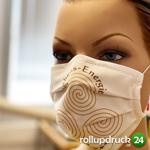 Druck auf der Mund Nasen Schutzmaske