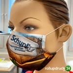 Ihr Unternehmen Ihre Werbefläche Mund Nasenmaske