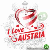 I Love Austria Schutzmaske