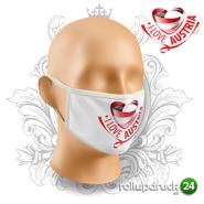 Schutzmaske bedruckt Motiv Österreich