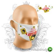 Schutzmaske bedruckt mit Österreich Design