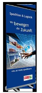 Auch die Wirtschaftskammer in Wien vertraut auf Rollup Produktionen von Rollupdruck24.at