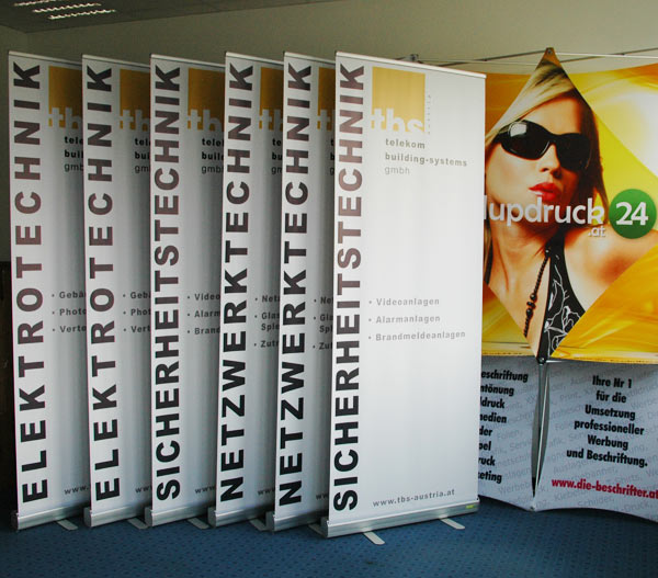 Digitaldruck Rollup Wien - Serienproduktion