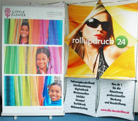 Farbgewaltige Rollup Produktionen